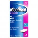 Nicotinell Liquorice 2mg Medicated Chewing Gum Regular Strength 96 Pieces