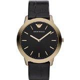 Emporio Armani AR1742 - Reloj para mujeres, correa de cuero color negro