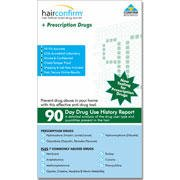 HairConfirm + Prescription Drugs 12 Panel Hair Follicle Drug Test Device