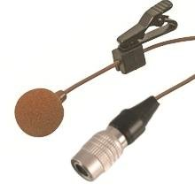 Lavalier Microphone With Tie Clip And 4Pin Hirose Plug - Brown