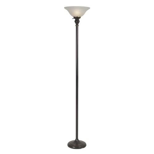 floor lamp with alabaster glass shade 72 inch tall black furniture. Black Bedroom Furniture Sets. Home Design Ideas