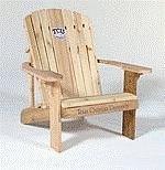 Texas Christian University Logo Adirondack Chair 23 inch Seat Width