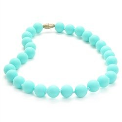 Chewbeads Jr. Jane Necklace - Teething Jewelry - 9-Inch Length - Turquoise - 1