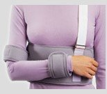 "Professional Care Shoulder Immobilizer Deluxe Right Left W/Strap/Cuff Waist To 52"" Universal"