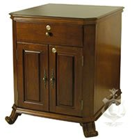 Cheap End table and Cigar humidor – 1500 Cigars – Antique Distressed Walnut Finish (B003FR61K8)