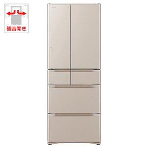日立 505L 6ドア冷蔵庫(クリスタルシャンパン)HITACHI 真空チルド R-G5200F-XN