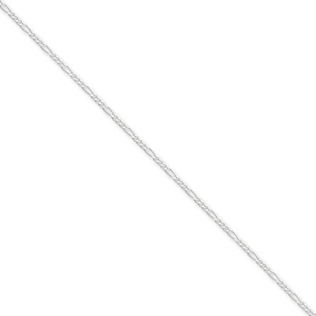 Black Bow Jewellery Company : 1.75 mm, Sterling Silver, Figaro Chain - 20 Inches