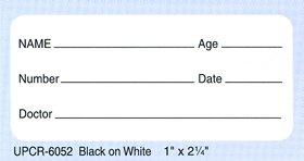 """Pathology Specimen Labels Model Upcr-6052, 1"""" X 2¼"""", 500/Rl"""
