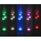 Galileo Thermometer Colour Changing Novelty Light, Night Light/Lamp