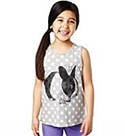 Cotton Rich Rabbit Photographic Print Vest Top