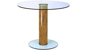Platform 700mm diameter clear glass Table