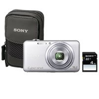 Sony Cyber-Shot DSC-WX70BDL 16.2MP CMOS Digital Camera with 4 GB Memory Card and Case (Silver) (2012 Model)