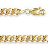 Jewelco London 9ct Solid gold premium Curb Ladies' bracelet - 4.4mm guage