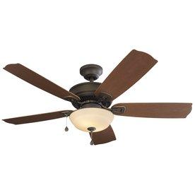 Harbor Breeze Echolake 52-in Bronze Downrod or Close Mount Indoor/Outdoor Ceiling Fan with Light Kit (Harbor Breeze 52 compare prices)