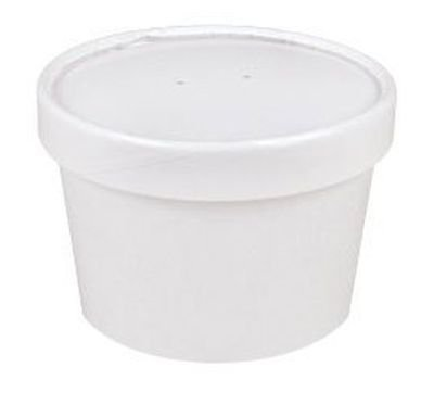 Sweet Bliss Cup Frozen Dessert Containers, 8 oz., 25CT, White (Ice Cream Lids compare prices)