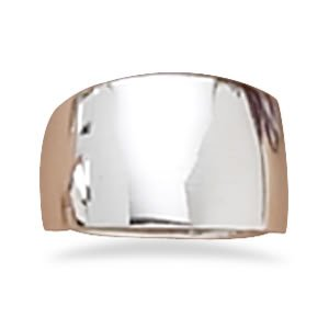 Sterling Silver Wide Tapered Polished Ring / Size 12