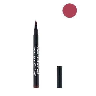 Feutre Semi Permanent Lip Liner - Couleur Bordeaux - Effet Tatouage Contour des Levres Maquillage
