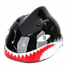 Children Shark Style Cycling Bike Bicycle Helmet - Black + White + Red (Size-M) front-819137
