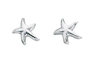 Starfish Stud Earrings In Sterling Silver