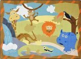 "Joy Carpets Kid Essentials Infants & Toddlers Jungle Babies Rug, Multicolored, 3'10"" x 5'4"""