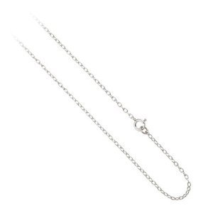 Bling Jewelry Sterling Silver Mens Rolo Chain Necklace 1mm