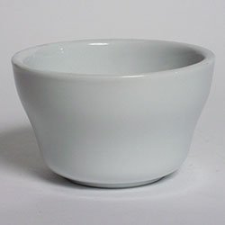 Tuxton China ALB-0752 Restaurant China Classic White 7-1/2 oz. Bouillon 4