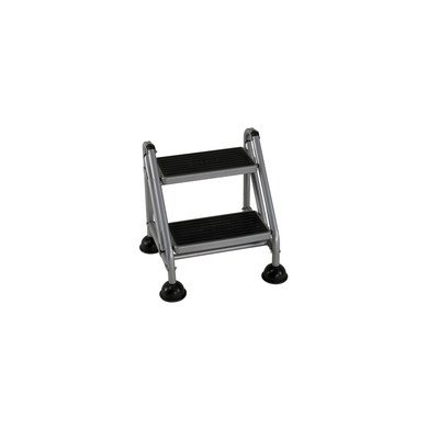 Cosco 11-824Ggb1 Two Step Rolling And Folding Step Ladder Grey back-986287