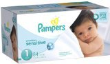Pampers Swaddlers Sensitive Diapers - Size 1 - 84 ct - 1