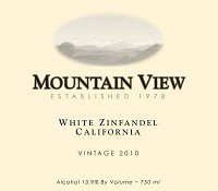 Mountain View Vintners Zinfandel Amador County 2010 750Ml