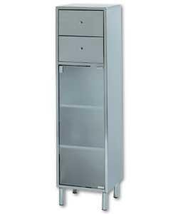 new stainless steel glass bathroom floor cabinet 2