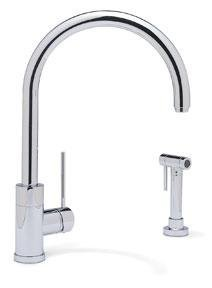 Blanco 157-094-CR Purus II With Side Spray Kitchen Faucet, Polished Chrome