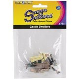 Woodland Scenics SP4442 1.5-Inch Scene Setters Figurine, Castle Dwellers, 5-Pack
