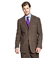 Big & Tall Sartorial Pure New Wool 2 Button Multi-Checked Jacket