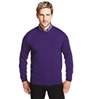 XXXL Blue Harbour Pure Cotton Crew Neck Jumper
