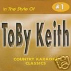 Toby Keith COUNTRY KARAOKE CLASSICS CDG VOL. 01