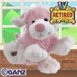 Webkinz Pink and White Dog with Webkinz Magnetic Bookmark