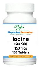 Iodine Supplement from Sea Kelp 150 Mcg, 100 Tablets - Endorsed by Dr. Ray Sahelian, M.D. - Thyroid Pill
