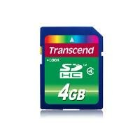 Transcend SDHC 4GB Standard Class 4 Memory Card (TS4GSDHC4)