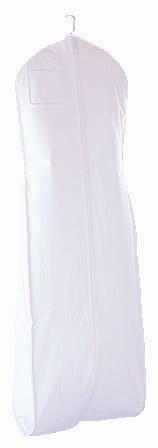 New White Breathable Wedding Bridal Dress Garment Bag (600GBB)