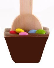 Chocolate-Spoon Colorful 3 Pieces Saving-Set By Les Chocolats Gourvita