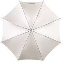Westcott 2021 60 inch Optical White Satin with Removable Cover Umbrella - Black