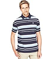 Blue Harbour Pure Cotton Slim Fit Varied Striped Polo Shirt