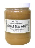 RAW HONEY ENRICHED WITH GINGER 40-OZ