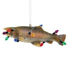 Holiday Trout Fish Ornament