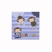 Monkey Mania Canvas Wall Art - 1 Pk