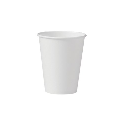 SOLO 378W-2050 Single-Sided Poly Paper Hot Cup, 8 oz. Capacity, White (Case of 1,000) (8 Oz Solo Lids compare prices)