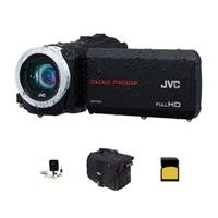 Jvc Everio Gz-R10 Quad-Proof Full Hd Camcorder Black - Bundle With 8Gb Class 10 Sdhc Card, Video Bag, Cleaning Kit