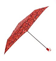 M&S Collection Rose Print Crook Handle Umbrella