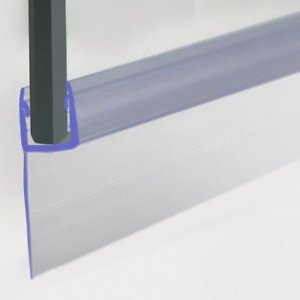 Rubber Plastic Bath Shower Screen Seal Strip For 4-6mm Glass Door Curved Straight 6-20mm Gap