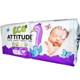 ATTITUDE Diapers - Size 1-2 - 36 ct - 1